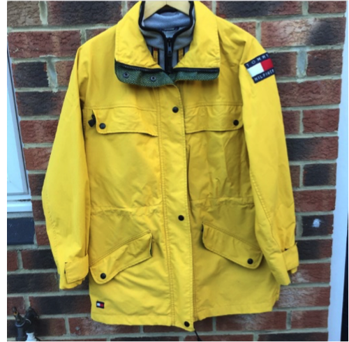 2ed868095f9a5 Canary Yellow Tommy Hilfiger Waterproof Jacket with Fleece Insert