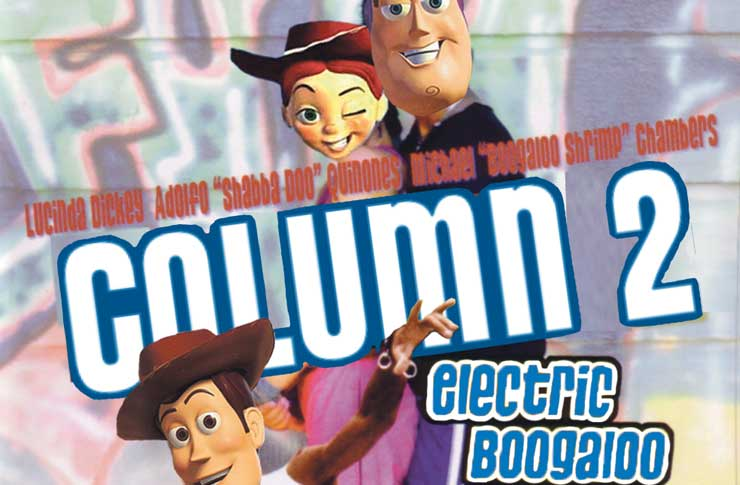 Column Two Electric Boogaloo Toy Story 2 1999 The
