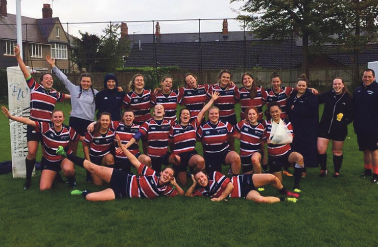 Women's rugby team photo