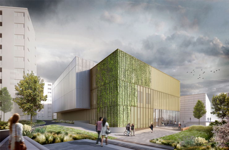 Artist's impression of the Sports Centre extension
