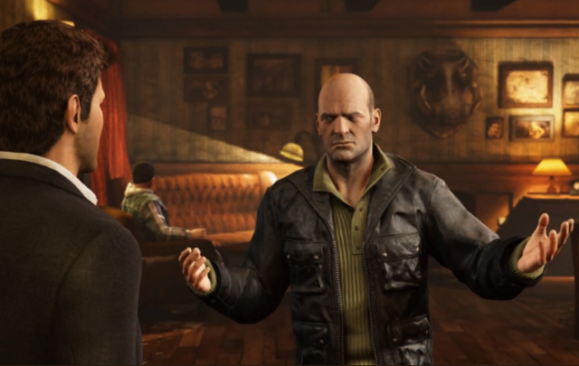 """""""'Ere mate. We don't take kindly to you lootin' other cultures' treasures"""" (Image: Naughty Dog)."""