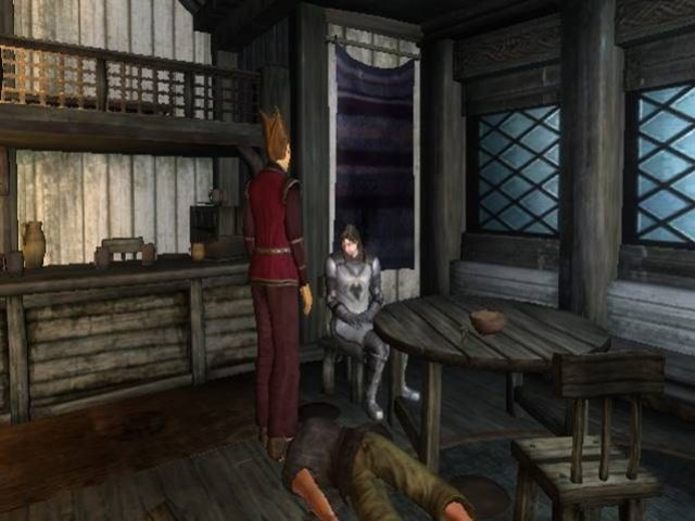 """""""Err...I think this guy's had a few too many"""" (Image: Bethesda Softworks)."""