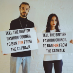 An Unexpected Anti-Fur Protest at London Fashion Week