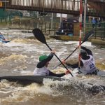Canoe club paddle for podium position