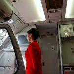 Heels on an air stewardess... is that really needed?