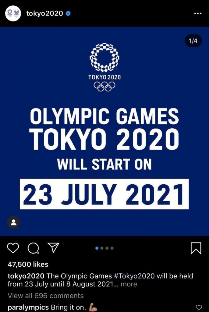 Tokyo 2020 Instagram
