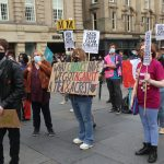 Protesters in Newcastle call for Gavinson's resignation following A-level results fiasco
