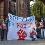 Students protest against tuition fees and unsafe working conditions