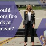 Should creators fire back at criticism?