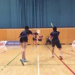Badminton make a racket