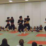 Cheerleading showcase their skills