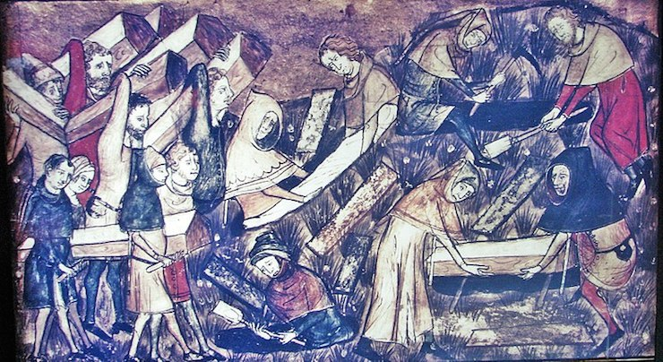 """The 'Black Death' is a recent term, it was originally referred to as """"the Great Mortality"""" or """"the Pestilence"""". Image via Wikimedia Commons"""