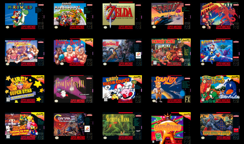 The 21 games the SNES Mini has to offer are definitely classics, but they're also available cheaper individually (Image: Nintendo official website)