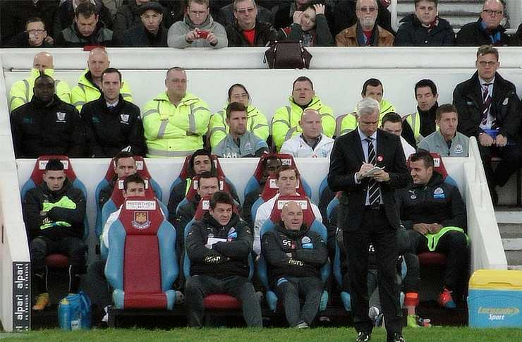 Pardew never quite won the hearts of Newcastle Supporters. Source: Wikimedia Commons