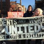 Picket lines are drawn in the UCU strikes