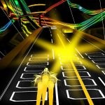 Stress-busting games: Audiosurf