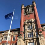 Opinions divided after university raises the EU flag