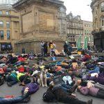 Newcastle citizens protest climate change