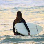 Surf's up on the North Sea coastline