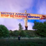 Campaigners project 'BA Betrayal' onto Angel of the North