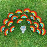 Student crochets free rainbow keyrings for NHS