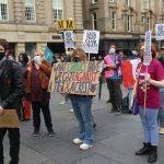 Protesters in Newcastle call for Gavinson's resignation following A-level results fiasco