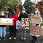 9k4what? student protest takes place at Civic Centre