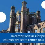 Students on practical courses to return on campus from 8 March