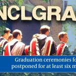Graduation ceremony postponed for the class of 2021